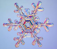 3d snowflake background