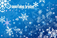 Glittering Snowflakes Wallpaper