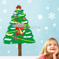 Christmas Tree Kids Art Decor Mural Wall Paper