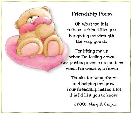 poems for friends. friends by composing poem