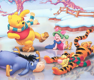pooh christmas fun wallpaper