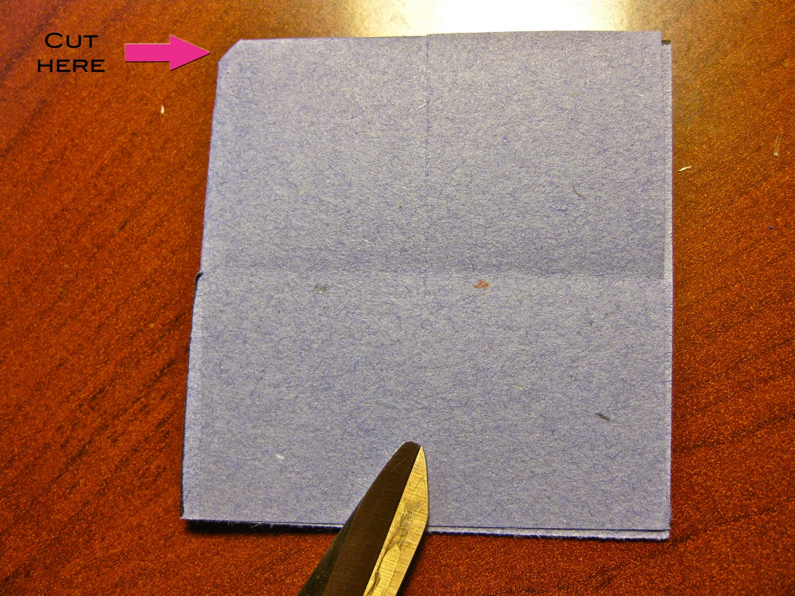 how to cut 4 inch paper hole