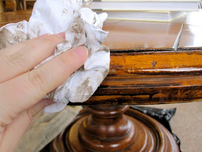 antiquing wood furniture