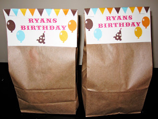 boy birthday party favor bags