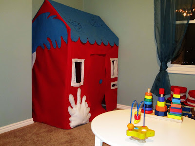pvc pipe dr.seuss playhouse playroom