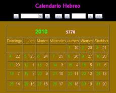 Calcula las fechas del Calendario Hebreo