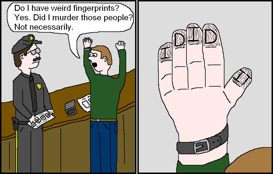 cartoon fingerprints