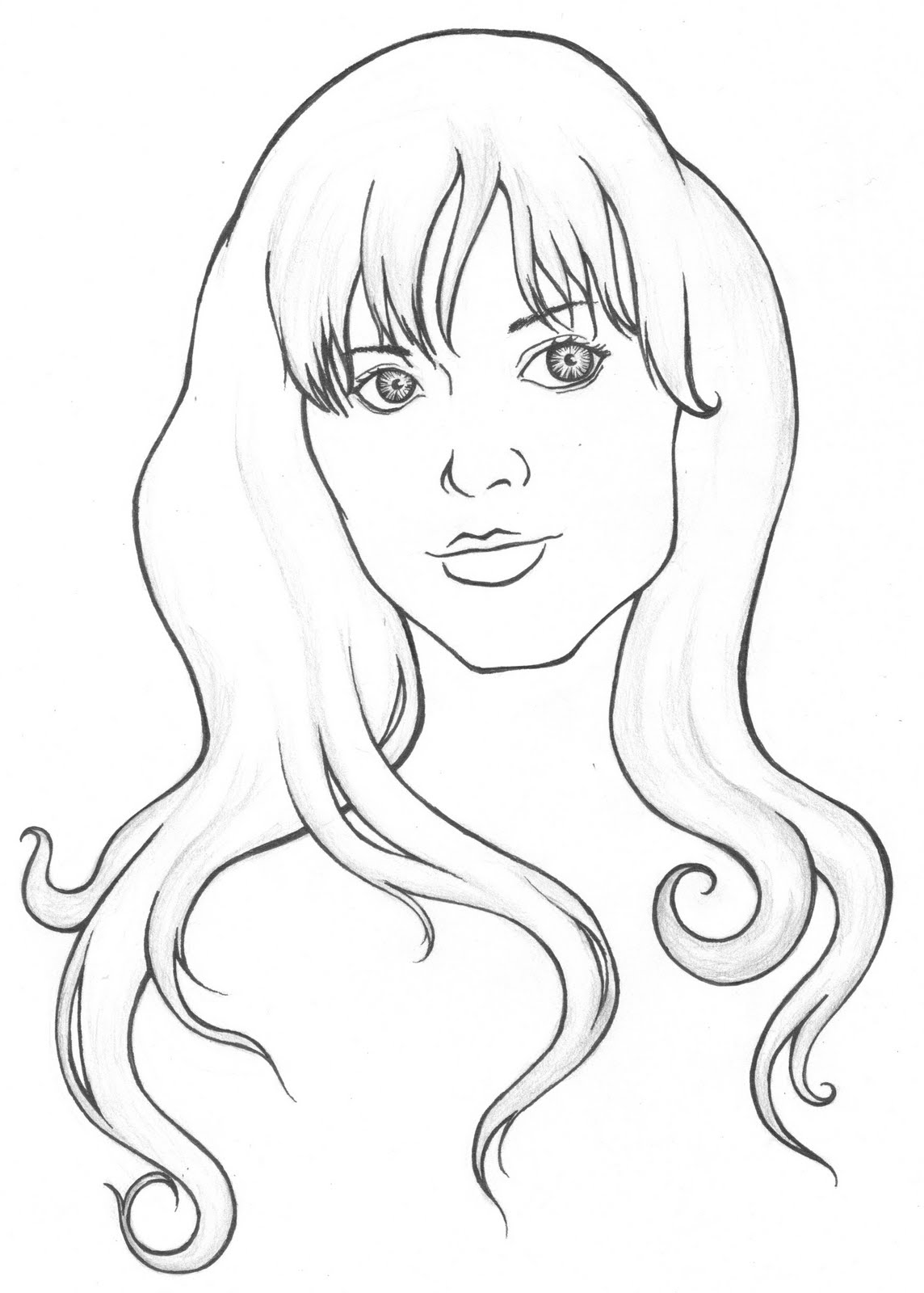 girls face coloring pages - photo#26