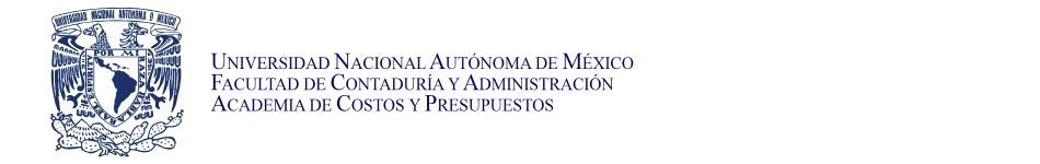 Blog de la Academia de Costos y Presupuestos de la FCA de la UNAM