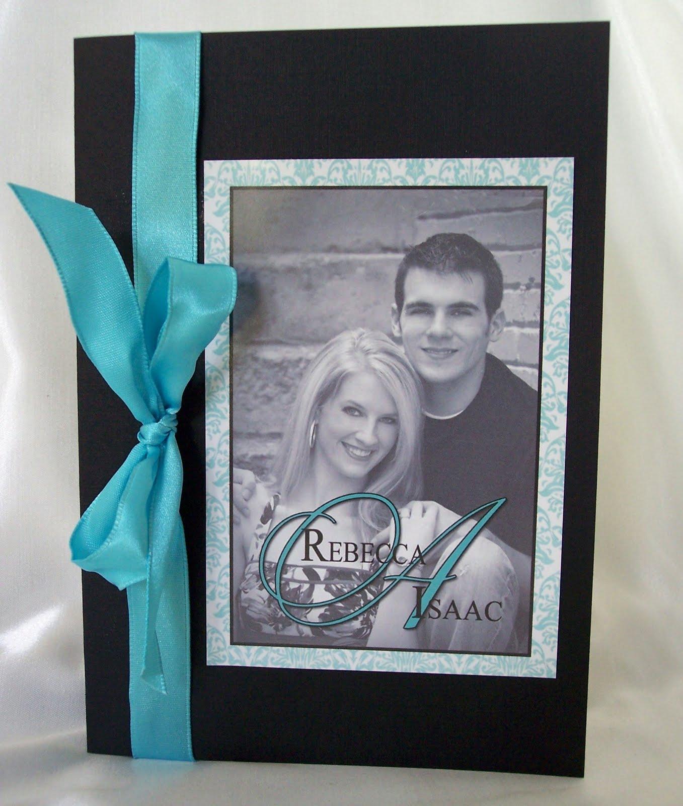 Designs by Ginny: Tiffany blue and black booklet style wedding program