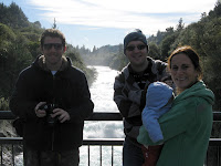 Me with Emma, Ollie and baby Seth at Huka falls outside Taupo