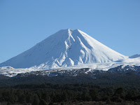 Mount Ruapehu, made famous as Mount doom but looking more like a ski field