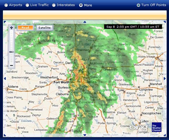 dallas weather. server in or near Dallas.