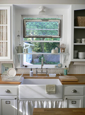 kitchen over shelf sink
