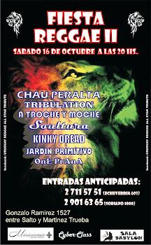 Fiesta Reggae en Casa de La Bola sabado 16 de octubre a las 20hs