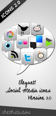 Elegant Social Media Icon