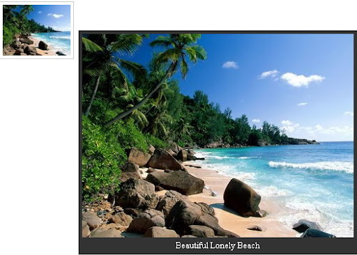 jQuery Image Preview  With Caption