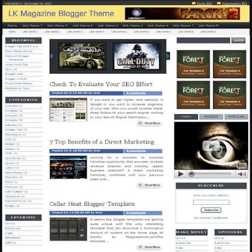LK Magazine Premium Blogger Template Free Download : Google Adsense ...
