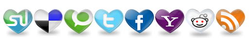 Heart Social Bookmark Button Below Blogger Post