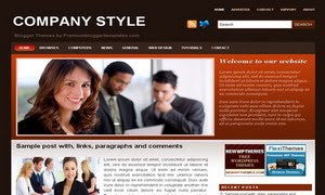 Company Style Blogger Template