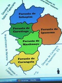 FORANIAS DA DIOCESE DE CARATINGA