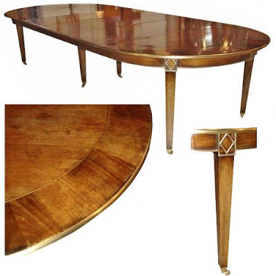 Shown above  a 19th century French Directoire walnut dining table that can  sit 1o people very comfortably. The Buzz on Antiques  HOW MANY PEOPLE CAN SIT AT A DINING TABLE