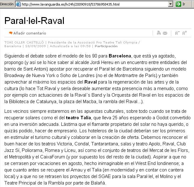 Paral·lel - Raval