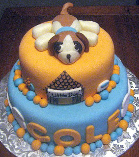 Birthday Cake on Bear Heart Baking Company  Fondant Puppy Dog Birthday Cake