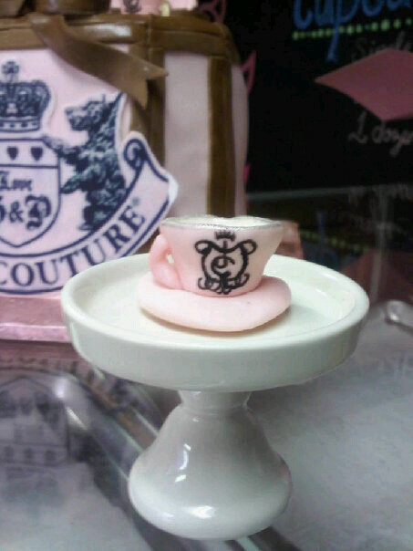 ... Baking Company: Juicy Couture Jewelry Box Cake & Teacup Charm Cupcakes