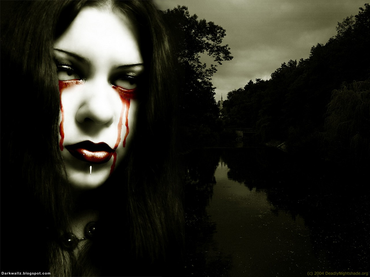 Bleeding Eyes | Dark Wallpaper Download