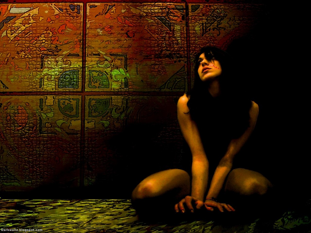 Prisoned Girl | Dark Wallpaper Download