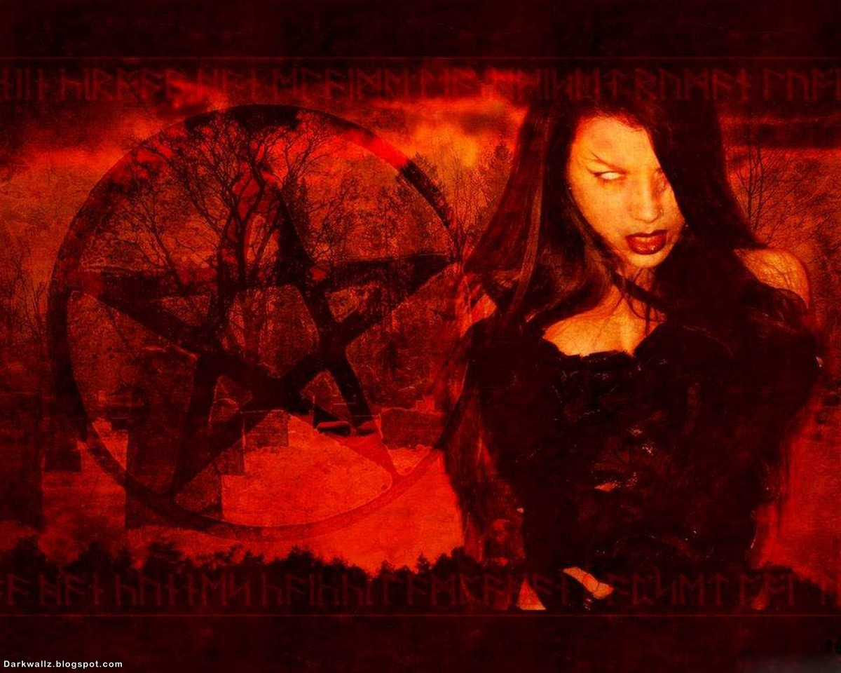 Satanic Gothic Girl | Dark Wallpaper Download