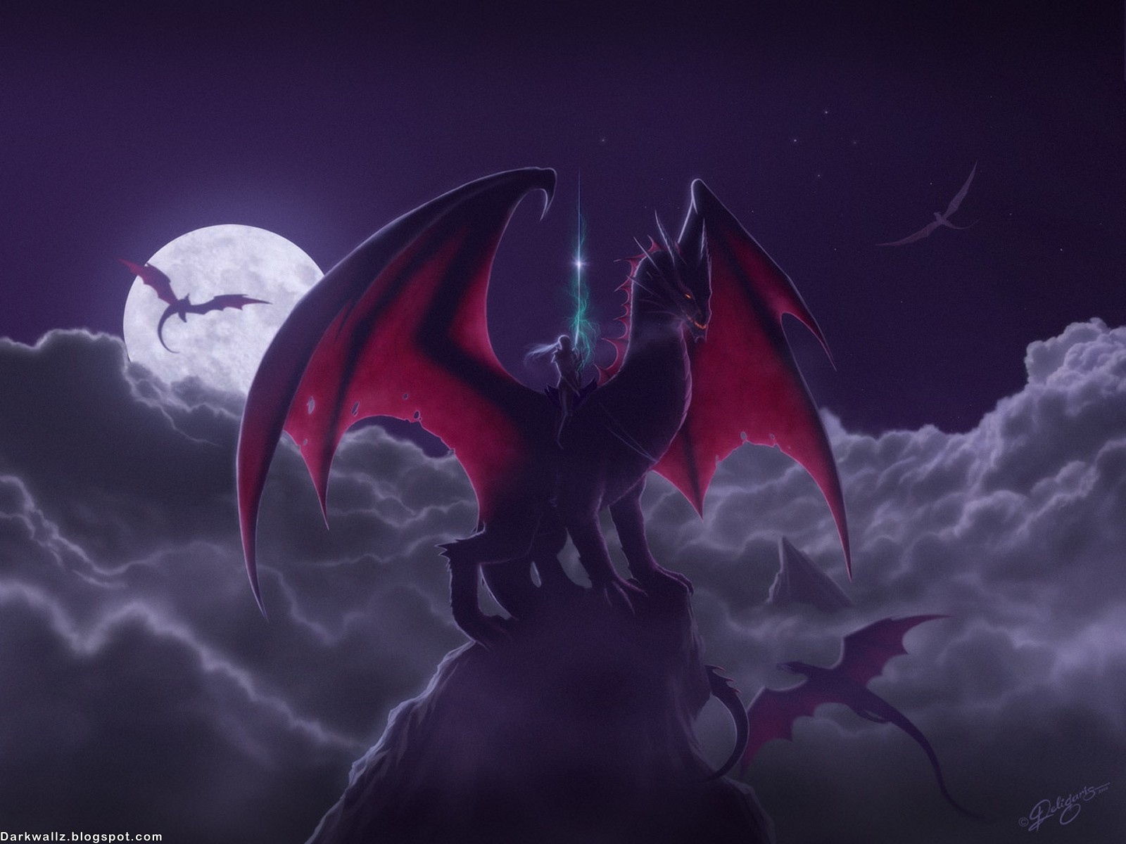 Dark Dragons Wallpapers 48 | Dark Wallpapers High Quality ...