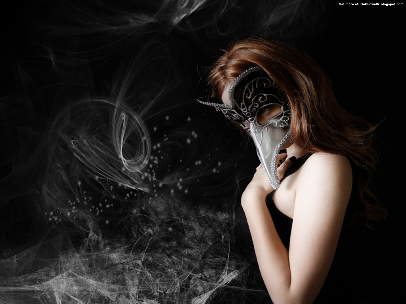 Gothic Mask Girl Wallpaper