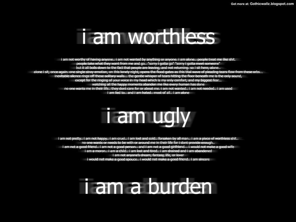 Gothic Wallpapers: i-am-worthless
