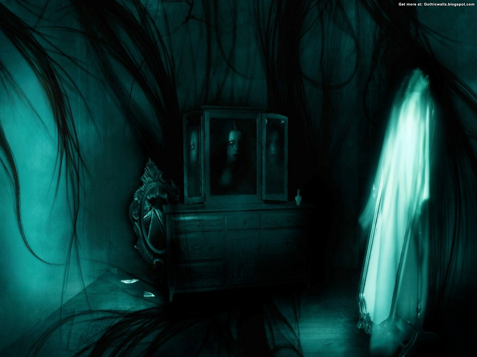 Fatal reflection | Gothic Wallpaper Download