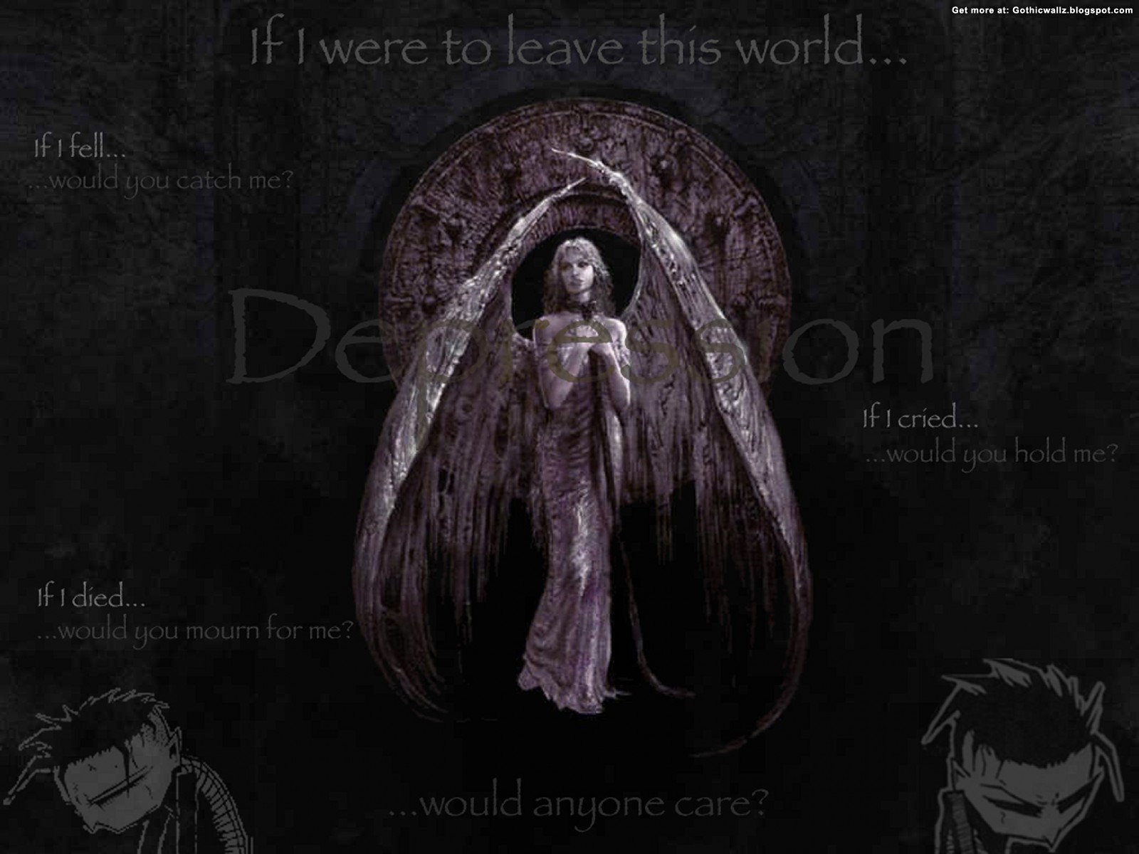 If I Leave This World | Gothic Wallpaper Download