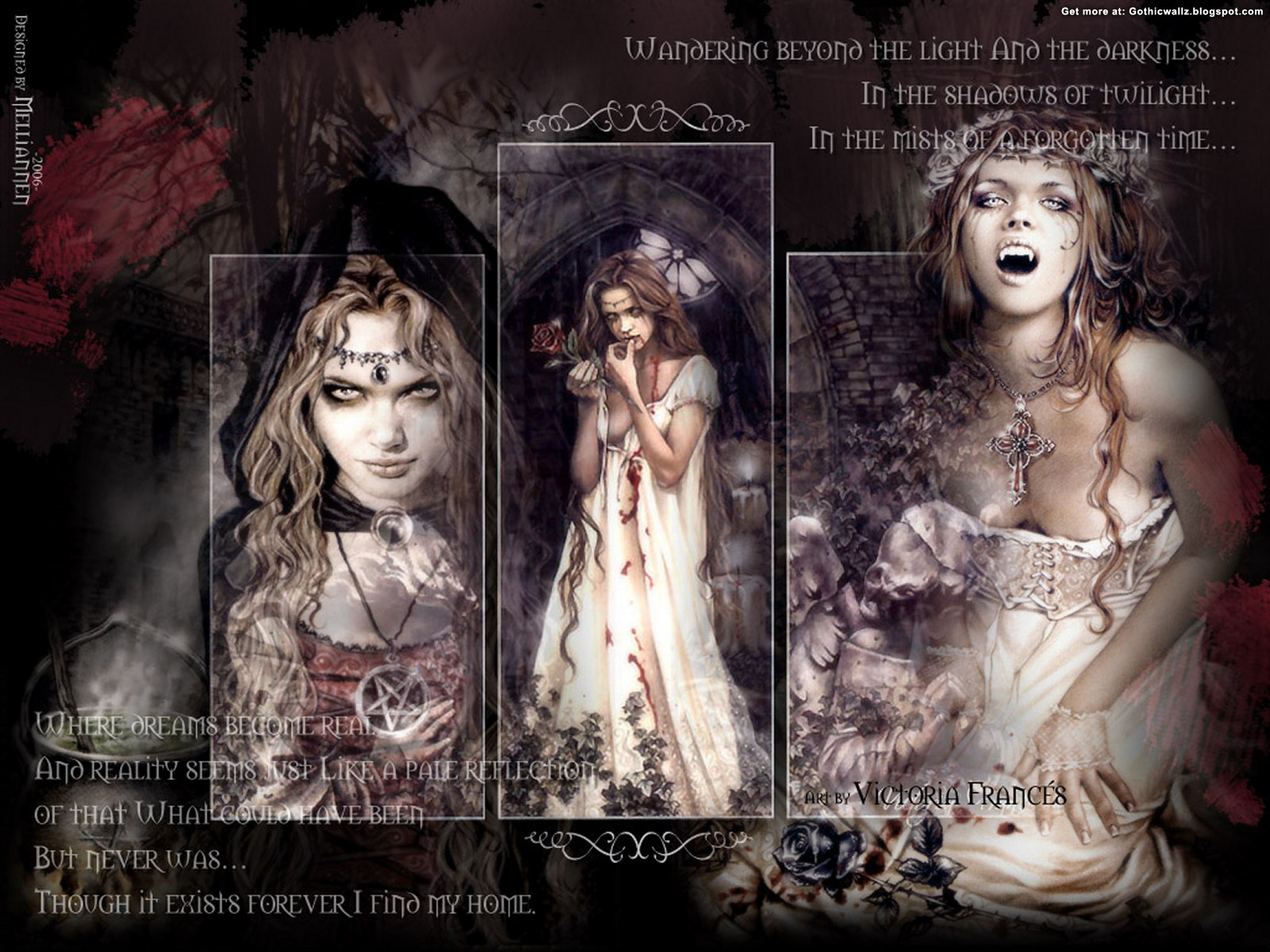 In The Luner Light | Gothic Wallpaper Download