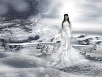 White Goth Lady | Dark Gothic Wallpapers