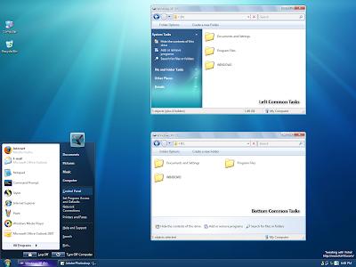 Preview Baixar SevenVG Black Theme for Windows XP