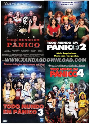 Download Todo Mundo em Pânico 1,2,3 e 4 Dvd-Rip