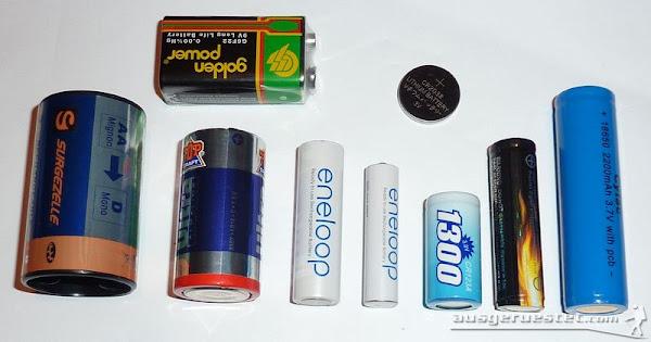 Taschenlampen akkus und Batterien