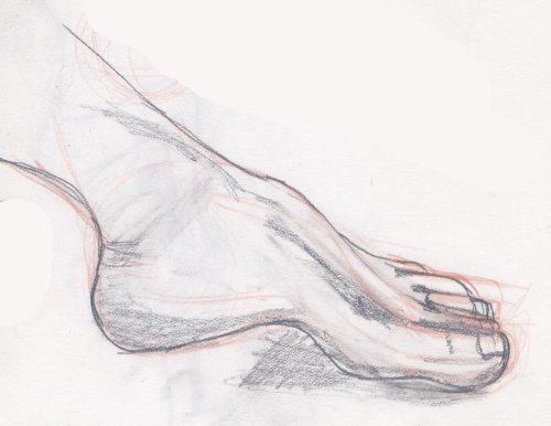 Pointed Feet Drawing a Pointed Out The Flaws And