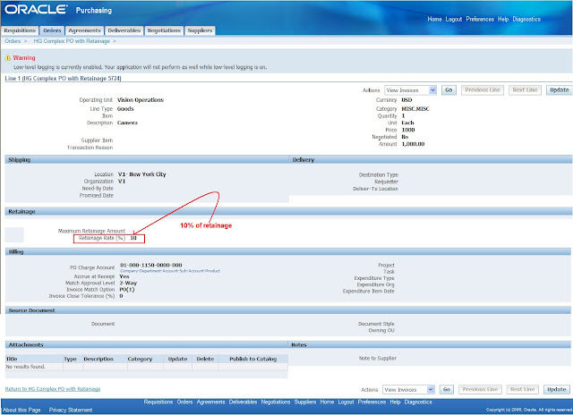 how to create invoice from purchase order in oracle apps