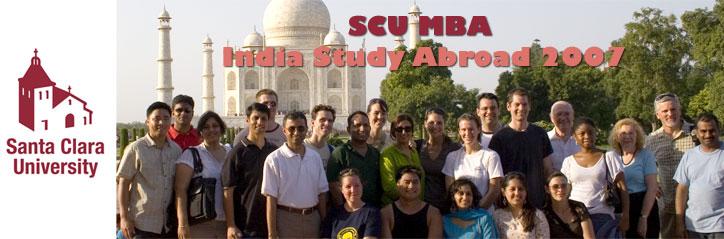 SCU MBA India Study Abroad 2007