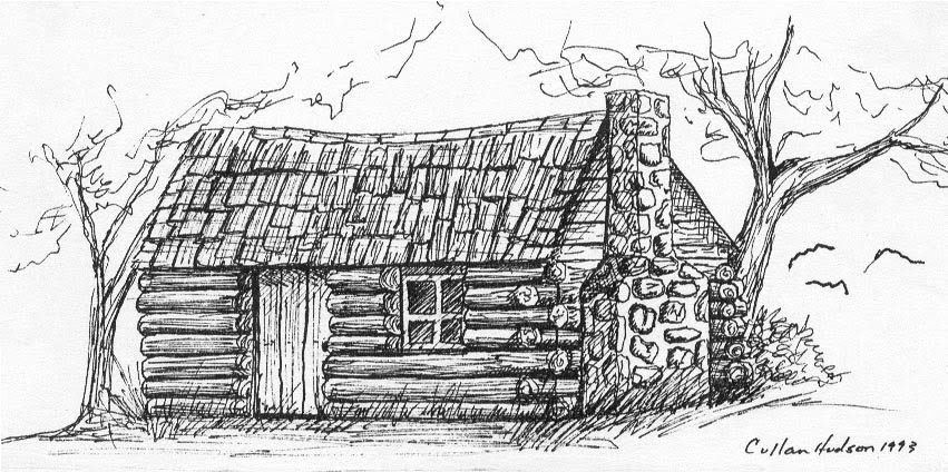 Free coloring pages of log cabins Cabin drawings