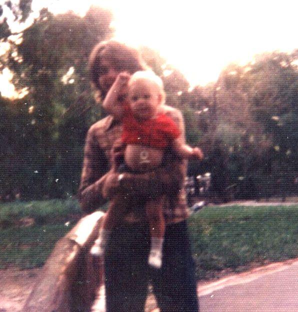 Daniel con su hijo Nicolas Crosta