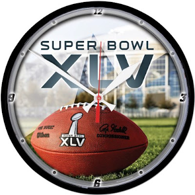 Super Bowl 45 XlV. Round Clock For Sale! Salute one of the biggest sporting