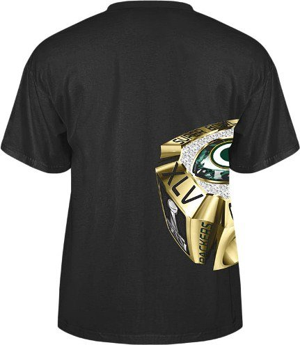 Green Bay Packers Super Bowl XLV Championship Ring T-Shirt For Sale