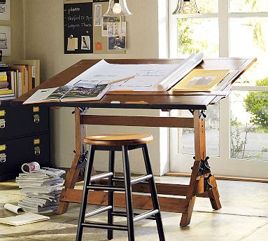 Design r pottery barn fall line - Drafting table designs ...
